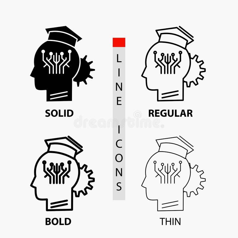 知识,管理,在稀薄,规则,大胆的线和纵的沟纹样式的分享的,聪明,技术象 r 皇族释放例证