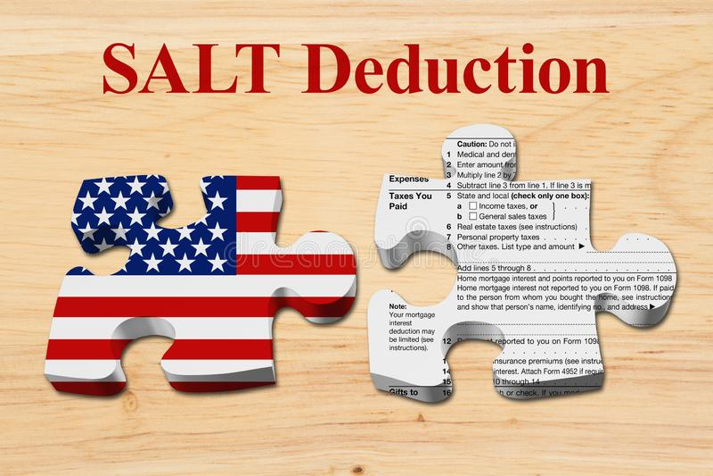 知道盐扣除极限怎么影响您的税 免版税库存图片