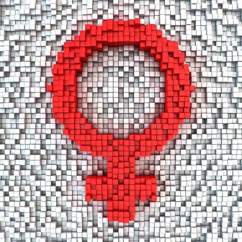 矩阵女性性别 皇族释放例证