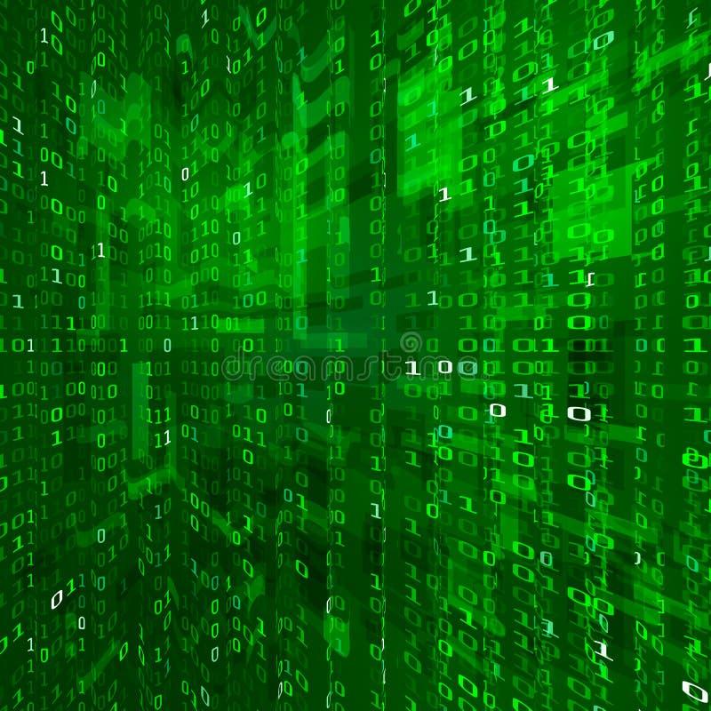 矩阵小河 二进制数据编制程序 网际空间技术背景 二进制数纹理 向量 皇族释放例证