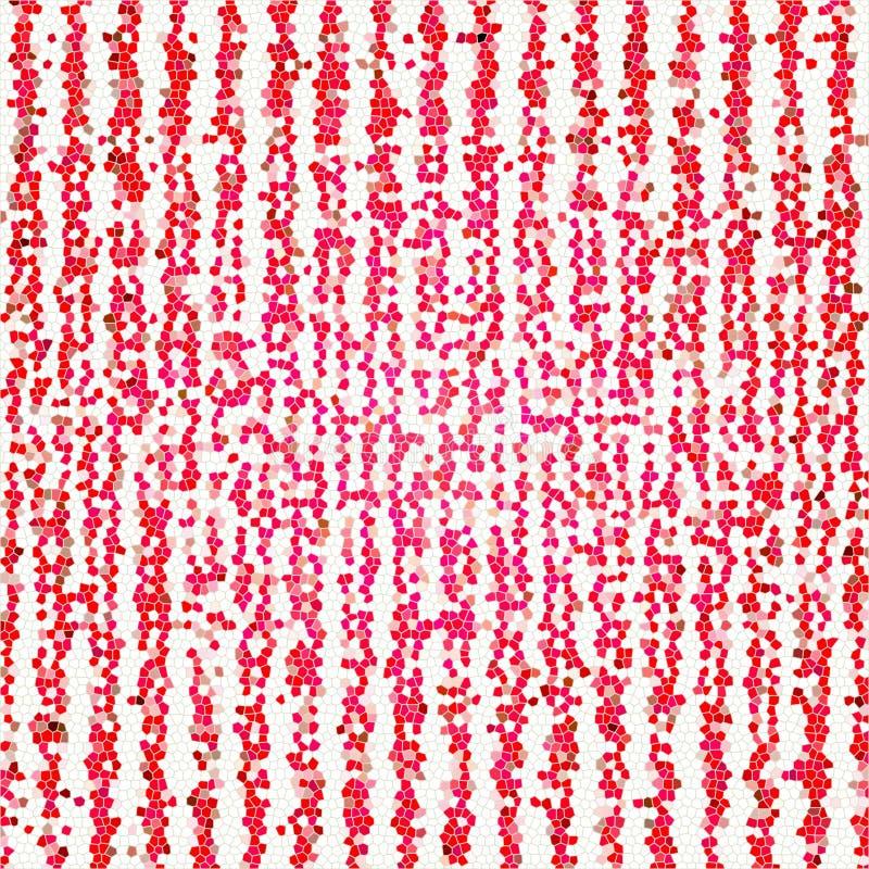 矩阵日本未来派红色Techno数字式东方马赛克装饰样式纹理 向量例证