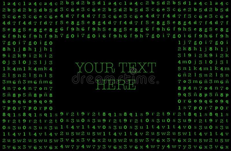 矩阵背景名片 你的短信 皇族释放例证