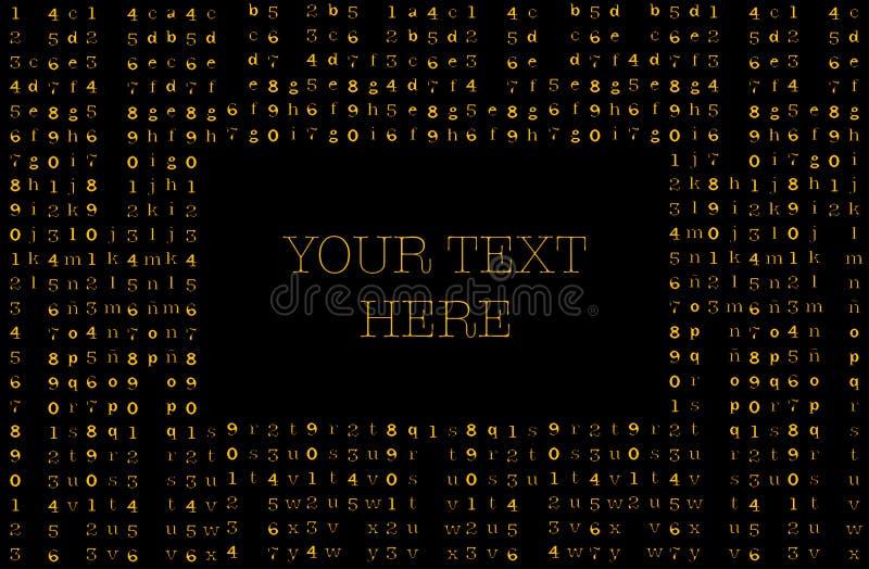 矩阵背景名片 你的短信 向量例证
