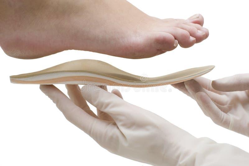 矫形的皮鞋的内底 免版税图库摄影
