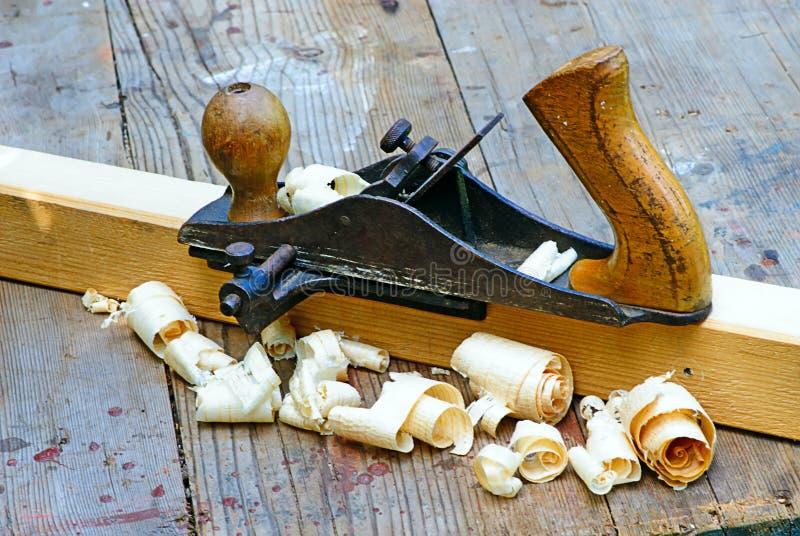 短刨小的木头 免版税库存照片