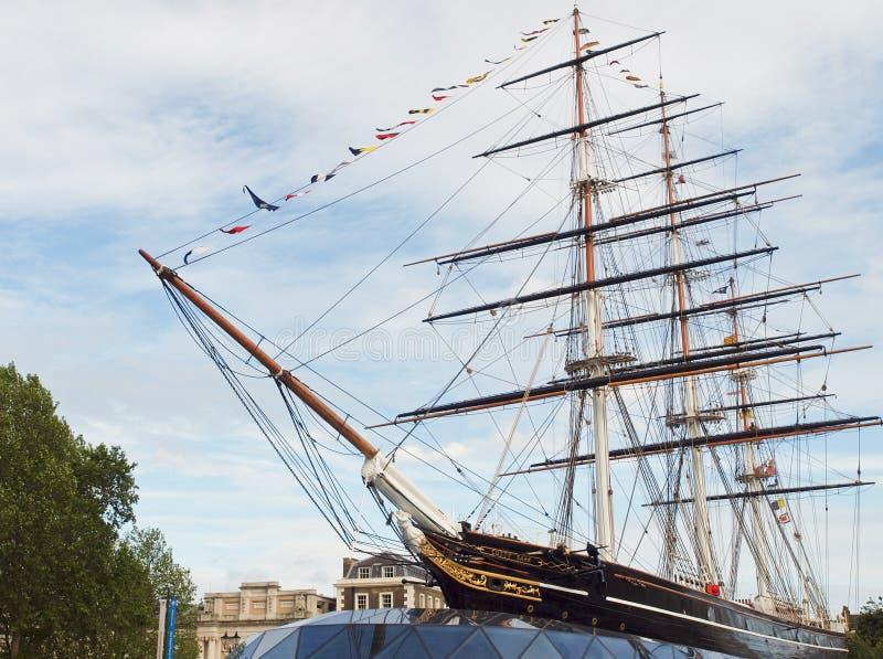 短匙Sark船,格林威治,伦敦 免版税库存图片