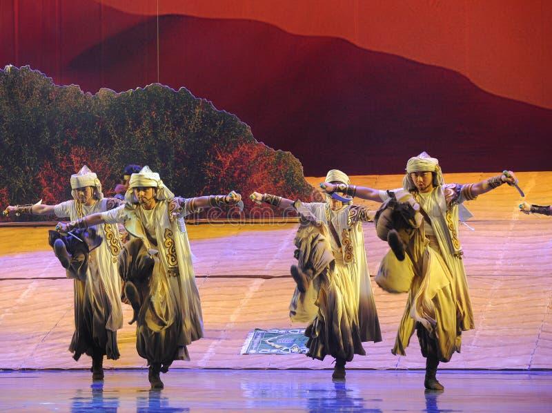 短弯刀舞蹈惠山在贺兰的芭蕾月亮 免版税图库摄影