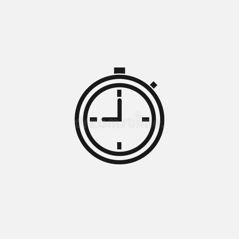 短时间标志 在白色背景的时间象 也corel凹道例证向量 向量例证