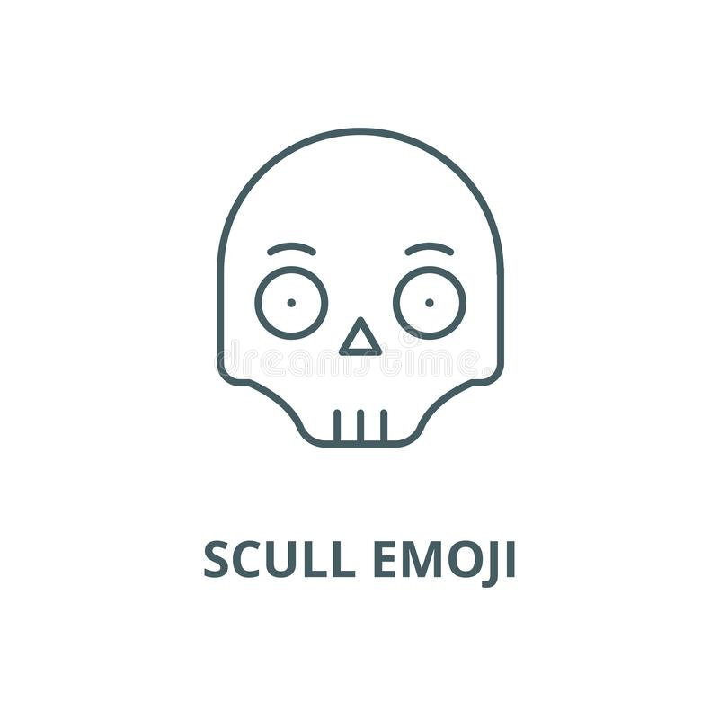 短桨emoji传染媒介线象,线性概念,概述标志,标志 库存例证