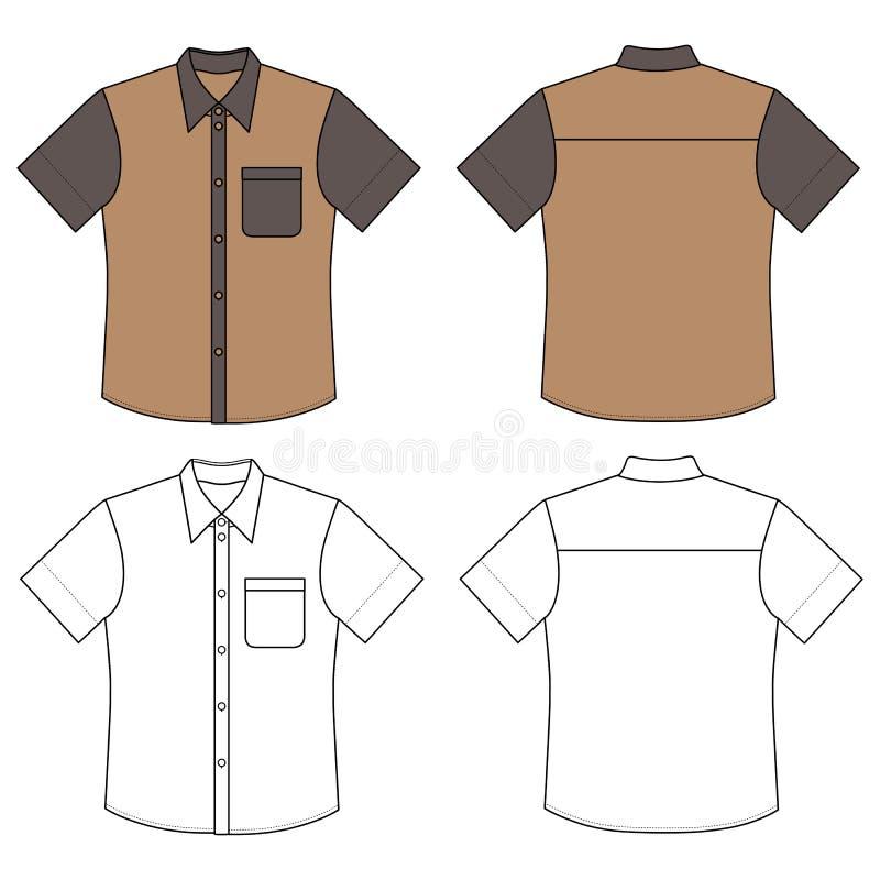 短的袖子衬衣 库存例证