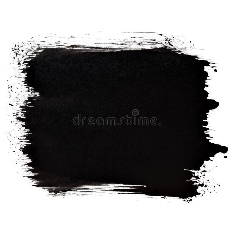 短的黑厚实的刷子冲程 皇族释放例证