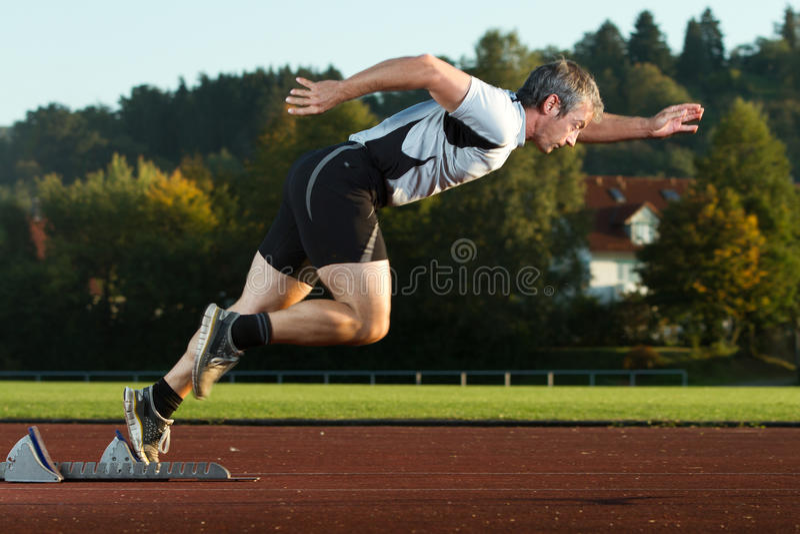 短跑起始时间 免版税图库摄影