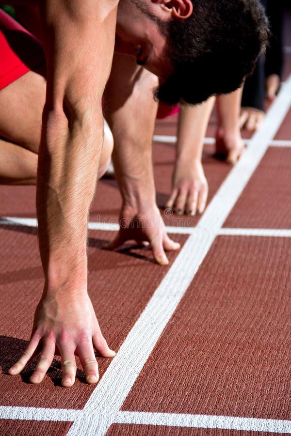 短跑选手人 库存照片