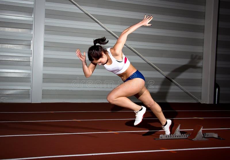 短跑选手妇女 库存照片
