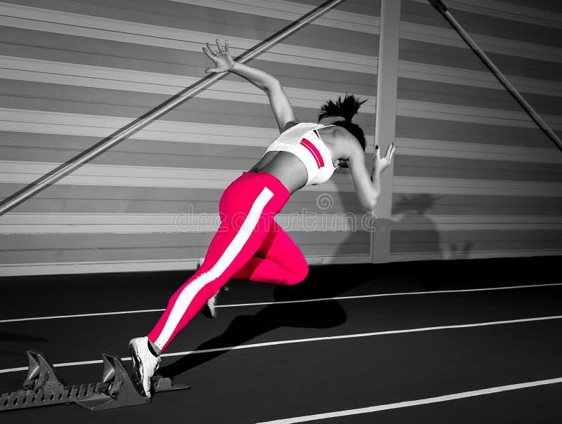 短跑选手妇女 库存图片