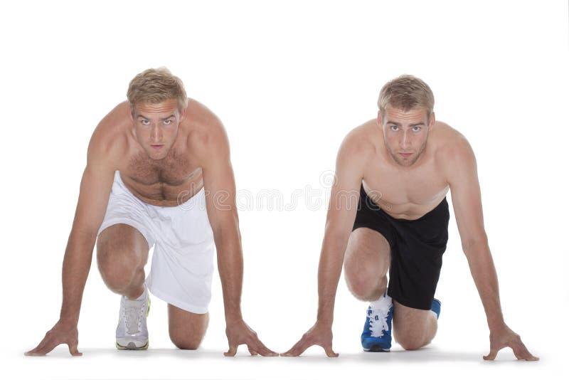 短跑选手起始时间 免版税库存图片