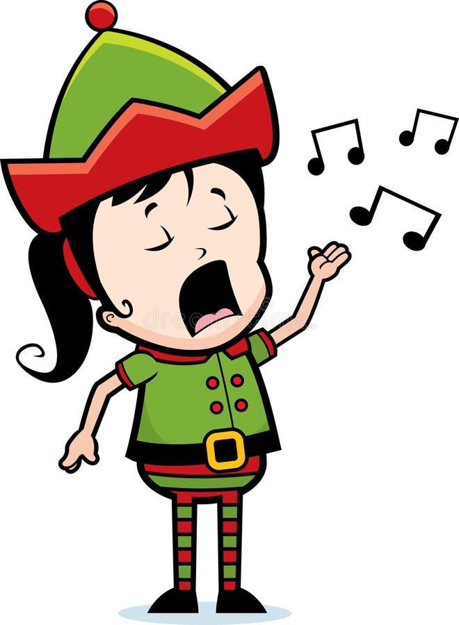 矮子唱歌 向量例证