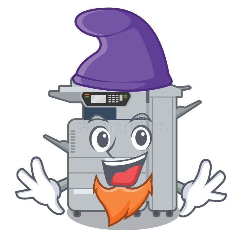 矮子在动画片形状的影印机机器 皇族释放例证