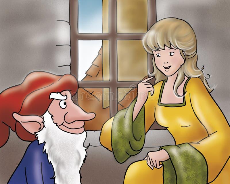 矮子邪恶的神仙的公主传说 皇族释放例证