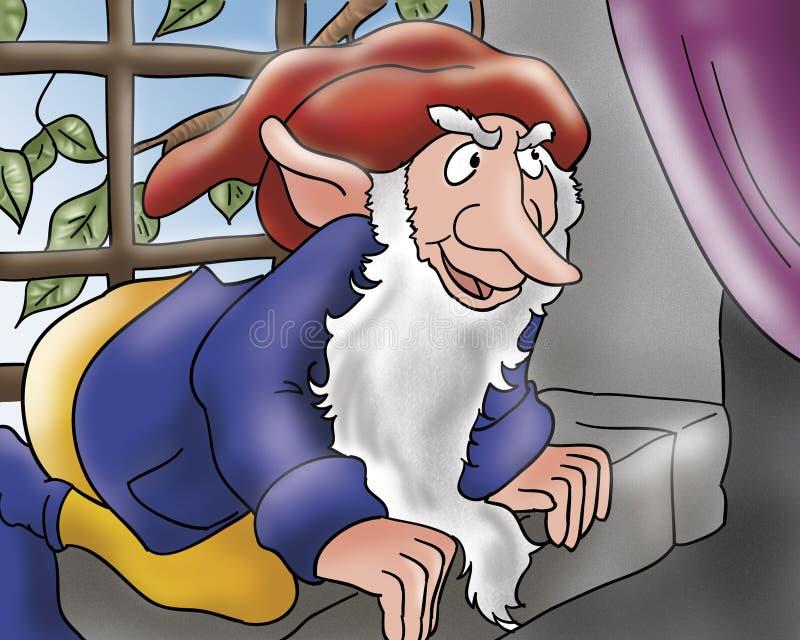 矮子邪恶的童话视窗 向量例证