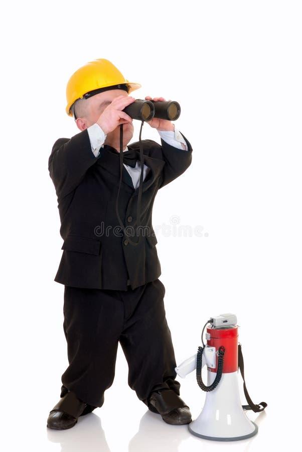 矮小的矮小的人监督员 免版税库存照片