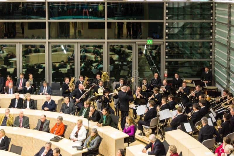 石勒苏益格-荷尔斯泰因州Landtag的庆祝 库存图片