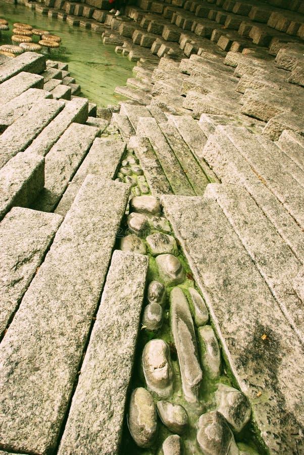 石喷泉 免版税库存照片