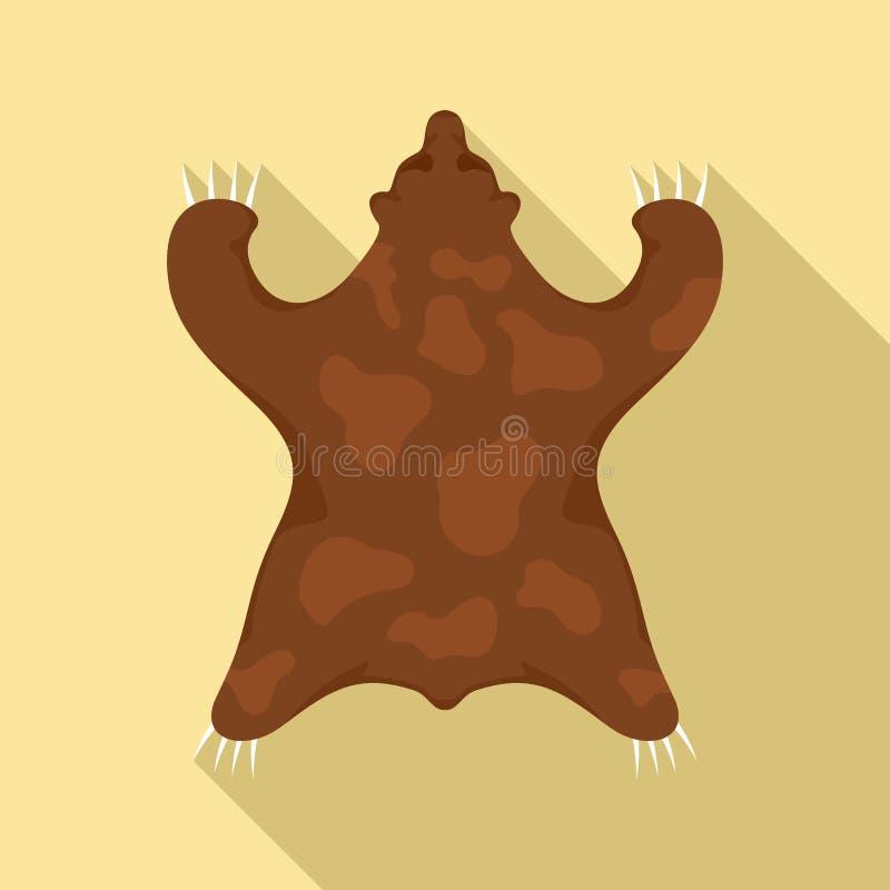 石器时期熊毛皮象,平的样式 向量例证