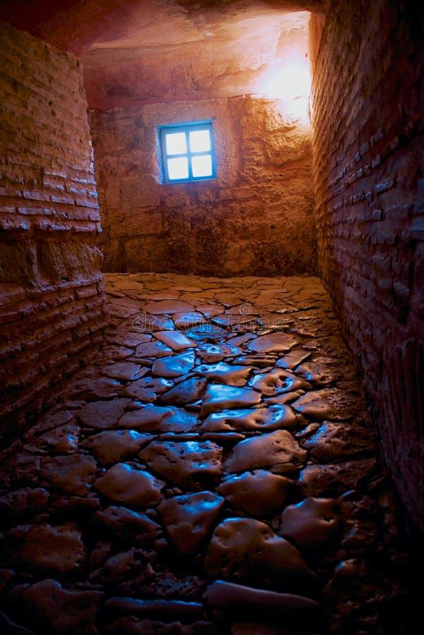 石地板段落在古老Hagia索非亚教会里 免版税库存照片