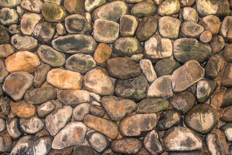 石墙在后院 图库摄影