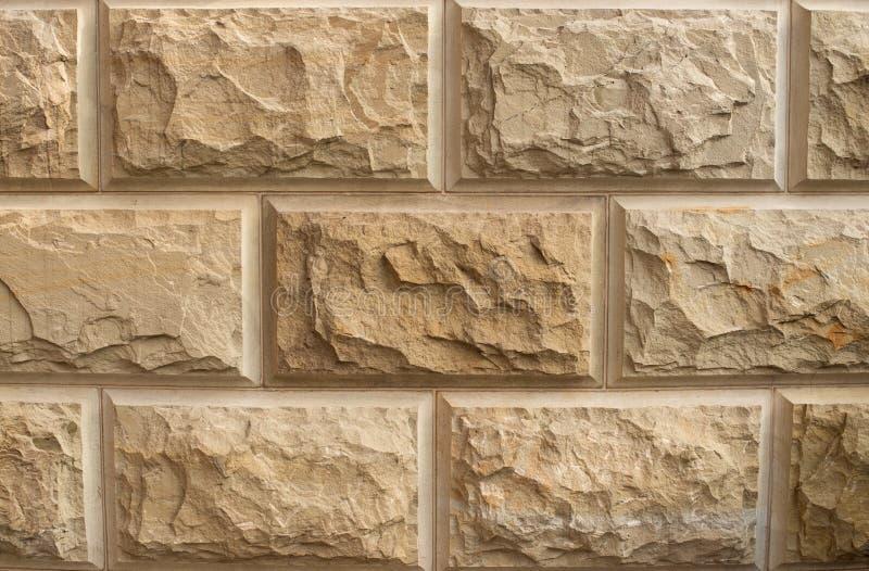 石墙摘要装饰背景 免版税库存照片
