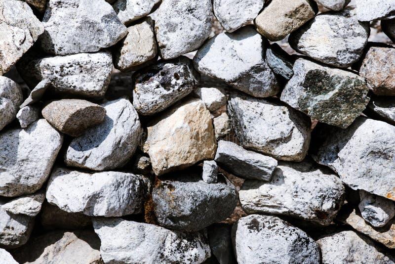 石墙的纹理 免版税库存图片