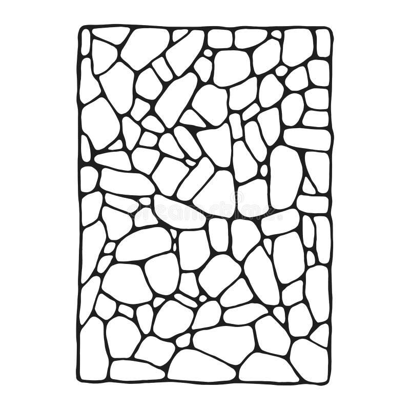石墙石工装饰传染媒介剪影 查出的对象 向量例证