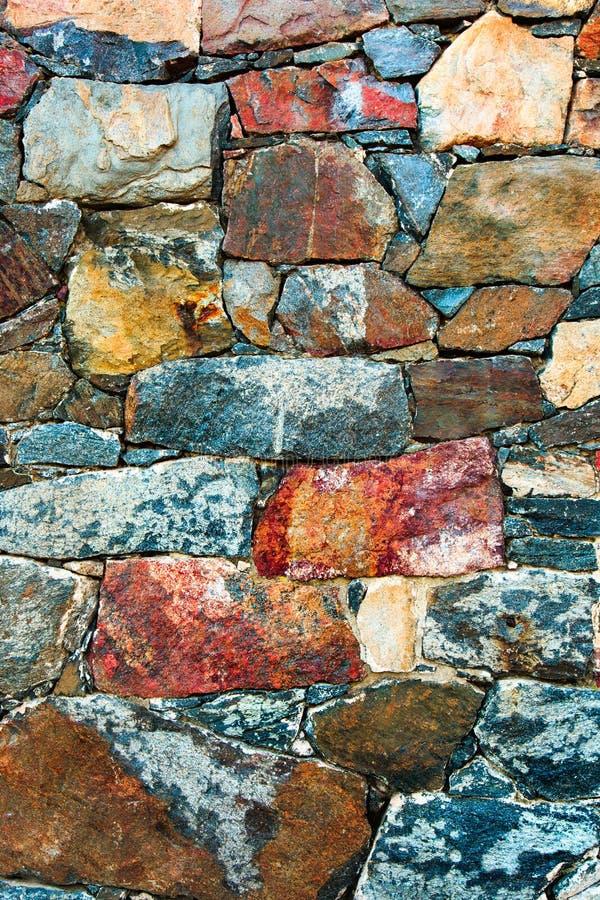 石墙纹理背景 中世纪堡垒的老室外岩石表面 特写镜头自然土气样式 免版税库存照片