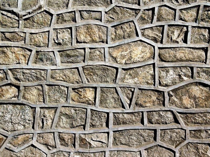 石墙被加强的水泥 皇族释放例证