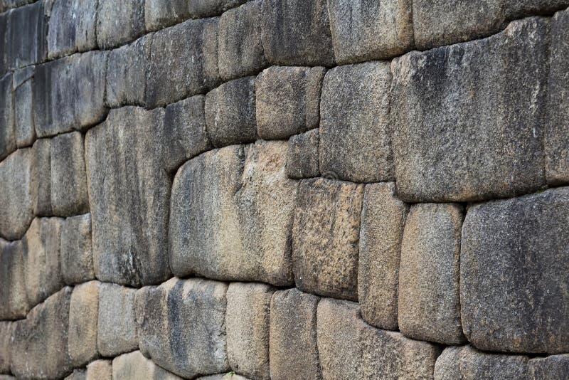 石墙马丘比丘印加人细节破坏秘鲁 图库摄影