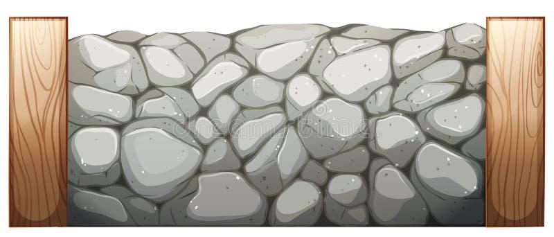 石墙 向量例证