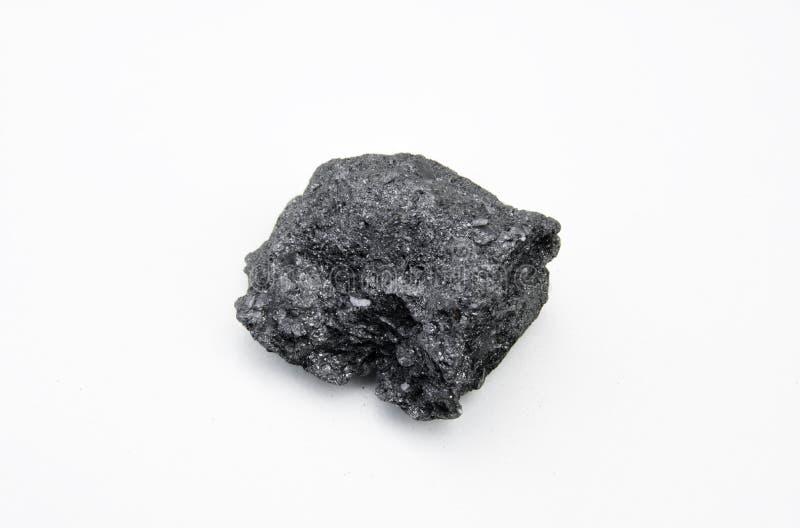 石墨矿物被隔绝在白色 库存图片