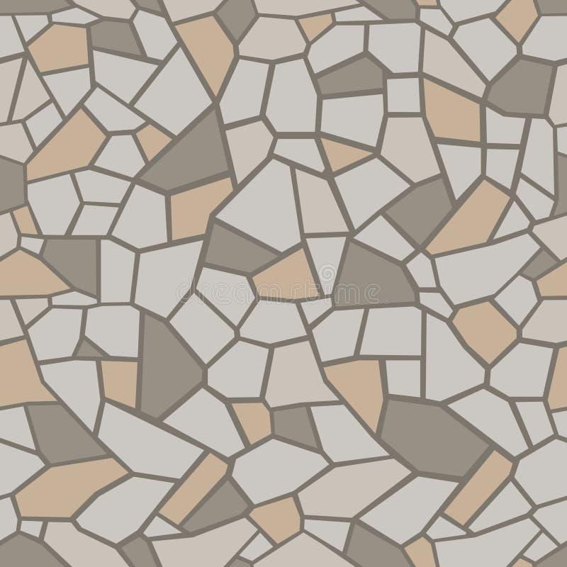 石头上色了背景 无缝的马赛克网眼图案 向量例证