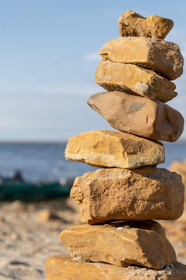 石头人造塔 免版税库存照片
