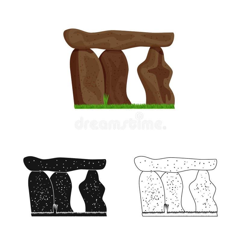 石头和巨型独石标志传染媒介设计  石头和史前储蓄传染媒介例证的汇集 皇族释放例证