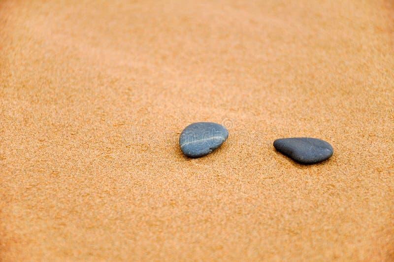 石头在沙漠 免版税库存照片