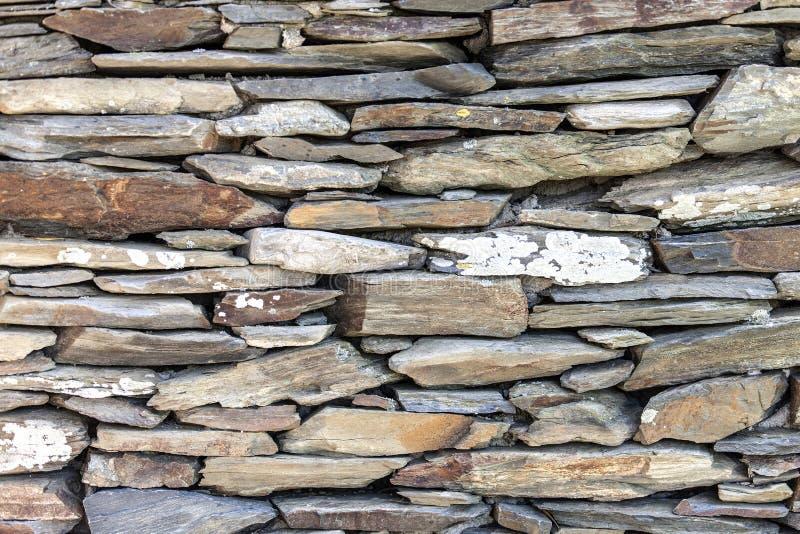 石头坚实片断石篱芭  库存图片