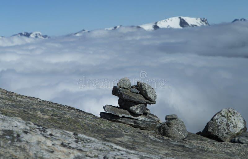 石头堆旋转 免版税图库摄影