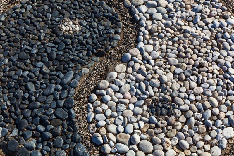 石头的尹和杨 免版税库存图片