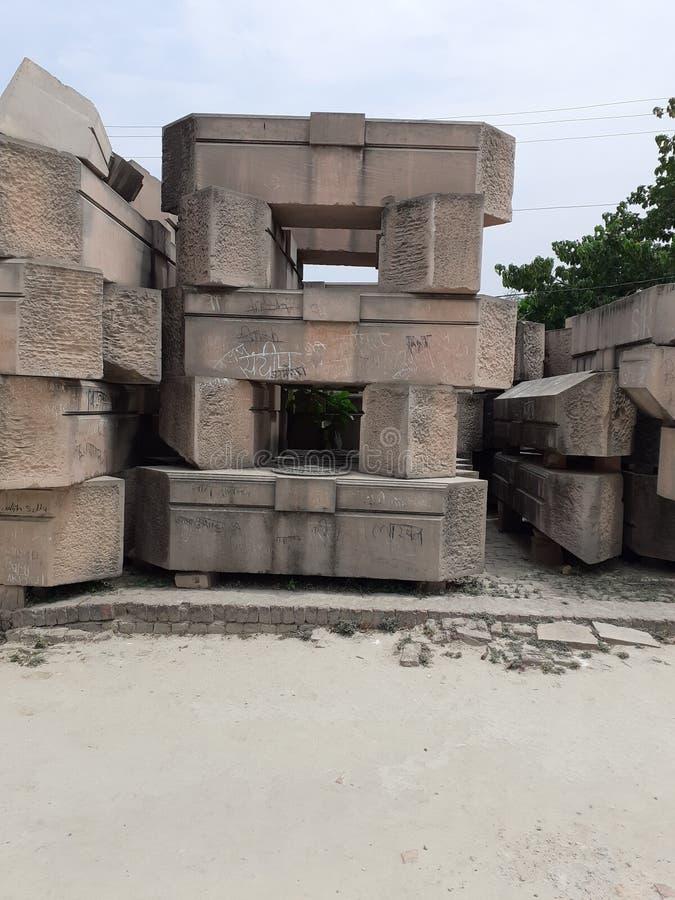石头被组织象房子 免版税库存照片