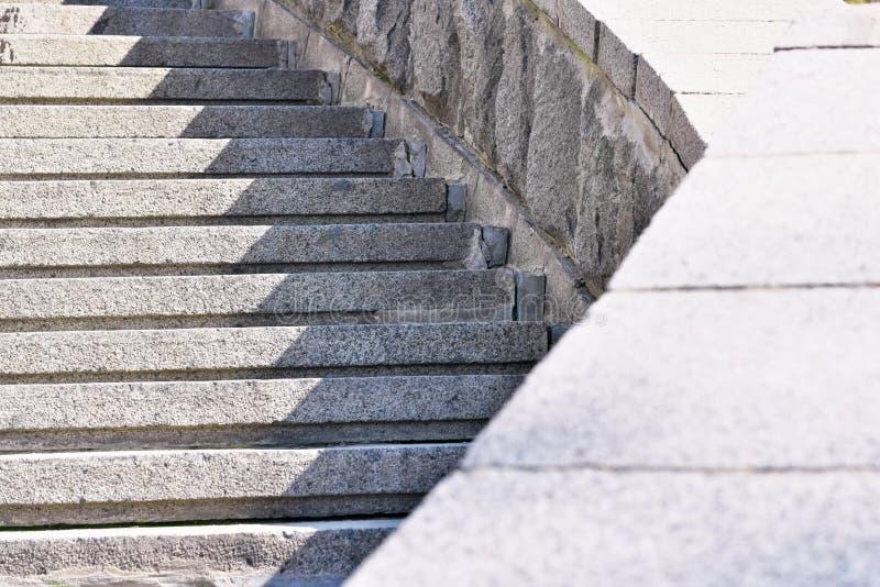 石头都市楼梯 库存图片