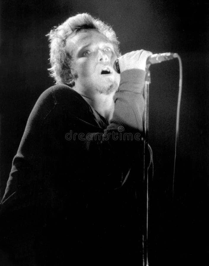 石寺庙飞行员的榜样歌手-斯科特Weiland在波士顿,由埃里克L的Ma执行1995年 约翰逊摄影 免版税库存图片