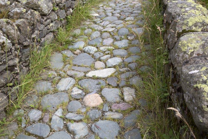 石小径, Watendlath;湖区 免版税图库摄影