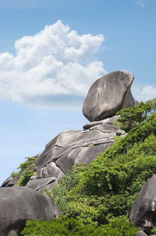 石岩石Similan海岛 免版税图库摄影